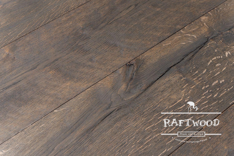 Oude Eiken Parket : Raftwood vloeren uit oude eiken balken vloer design